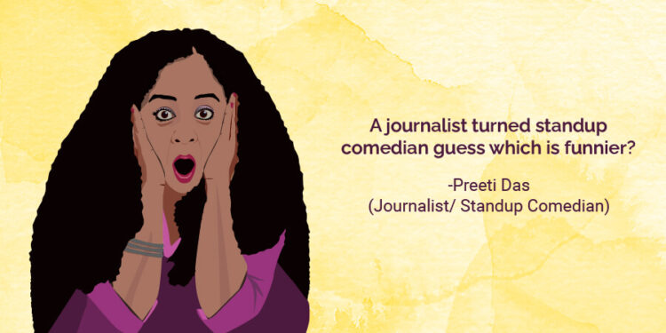 A Journalist Turned Standup Comedian – Guess Which Is Funnier?